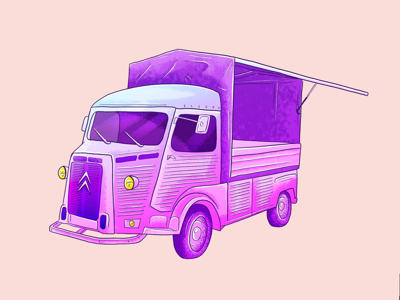 Truck photoshop adobe texture vehicle help empty wacom cintiq brush illustration truck