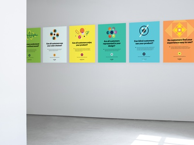 Global Accessibility Awareness Month Poster Series graphic design color inclusion poster series poster color contrast accessibility