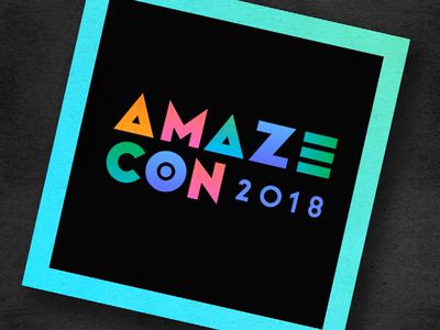 Amazecon Branding tshirt print graphic design colorful conference amazecon amazon gradient geometric branding logo
