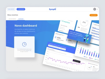 Organizer Dashboard - Onboarding sympla dashboad uiux website desktop design uxdesign userinterface uidesign interaction design events