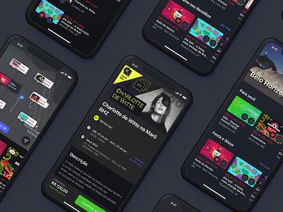 Dark mode dark mode sympla events app design uiux uxdesign userinterface uidesign interaction design