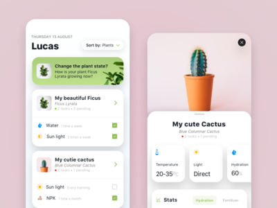 My Plants userinterface interaction design uxdesign app design uiux uidesign