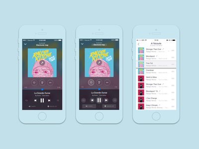 Deezer - Mobile Player (2016) streaming streaming app app design mobile music player ui music app ios player
