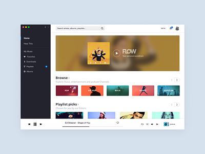 Deezer - Desktop App (2018) product design interface design ui design desktop app deezer