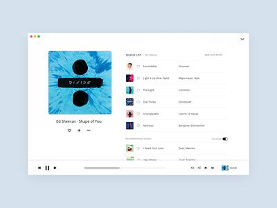 Deezer - Desktop App - Full Player (2018) streaming player ui player product design interface design ui design desktop app deezer