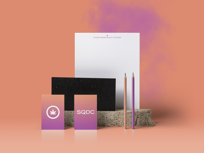 Sqdc cannabis graphic  design design logo branding