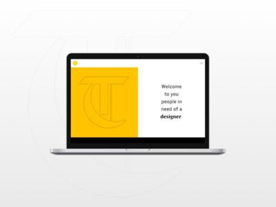 Personnal Website branding typogaphy webdesign web ui