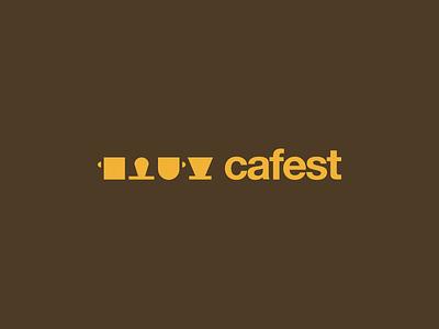 Cafest logo branding minimal concept festival coffee
