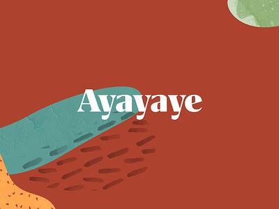 Ayayaye type typography plants logo logotype branding