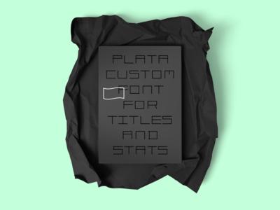 Plata minimal typography identity logo branding brand