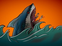 Shark Illustration (in collaboration with Joe Lockwood)