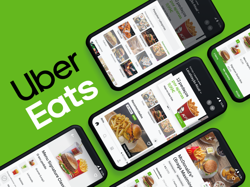 Uber Eats — App Redesign uber redesign food app food delivery app app redesign app design uber eats