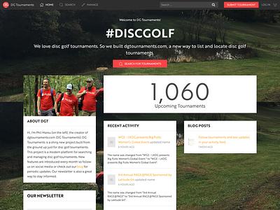 DG Tournaments Homepage homepage discgolf