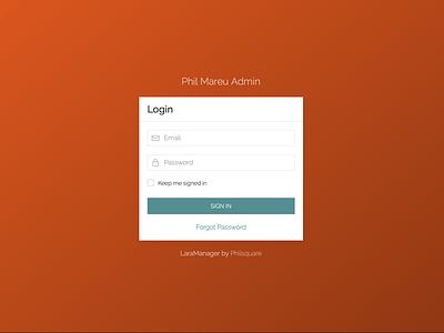 LaraManager - Login login admin