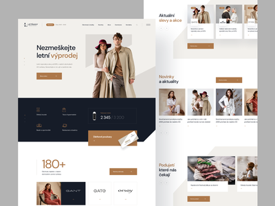 Shopping Center - Homepage minimal homepage ui simple shops fashion shopping center shopping