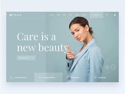 Beauty Clinic - Hero Animation animation healthcare skin beauty homepage hero modern clean simple ux ui minimal