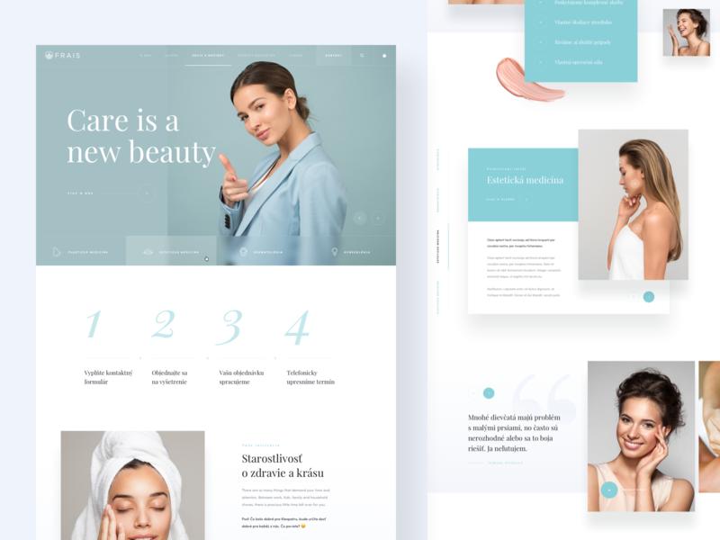 Beauty Clinic - Homepage modern ux ui minimal clean simple skin health beauty homepage landing page