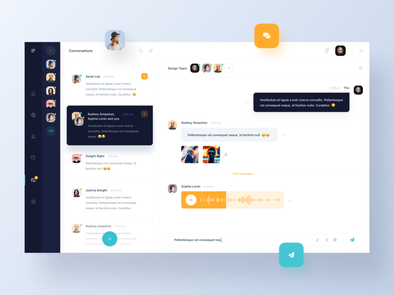 Dashboard - Chat V1 mail conversation messages chat dashboard ux ui simple minimal clean