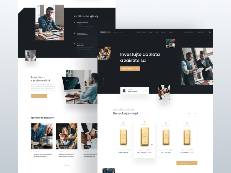 Gold Investment - Homepage V2 investment finance business ecommerce silver gold homepage ux ui simple modern minimal clean