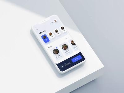 Restaurant App - Order Animation order reservation app design restaurant meal food application app ux ui simple modern clean minimal