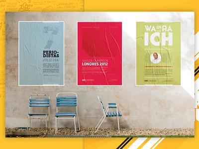 ISEC poster print exhibition university college branding