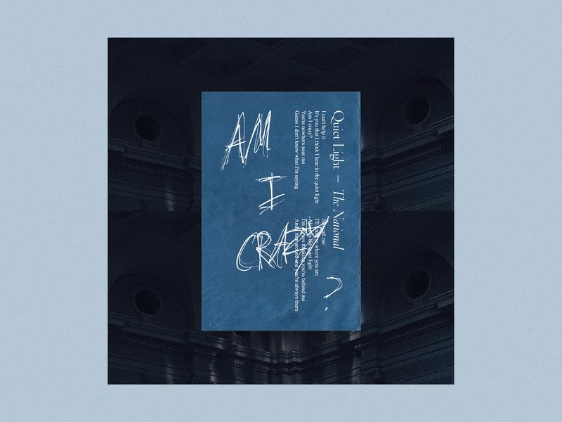 Quiet Light - The National music artsy edgy album cover album artwork album art graphic  design design