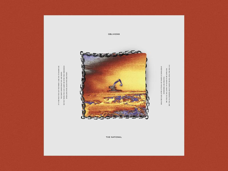Oblivions - The National music artsy edgy album cover album artwork album art graphic  design design