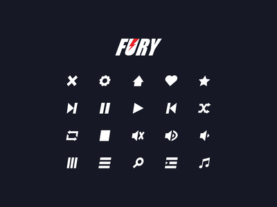 Fury • Music Streming - Icons icons pack pack icons icon