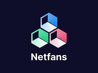 Netfans brand design design branding branding design logo design logo