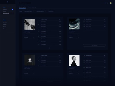 songs app work web ui minimal design clean