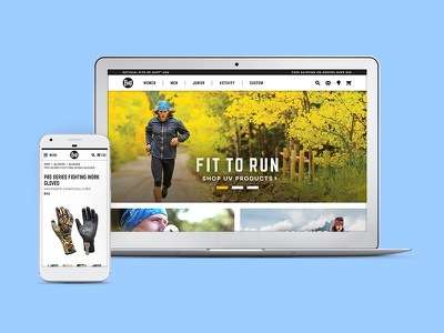 Buff USA Redesign outdoors ecommerce typography ux web design