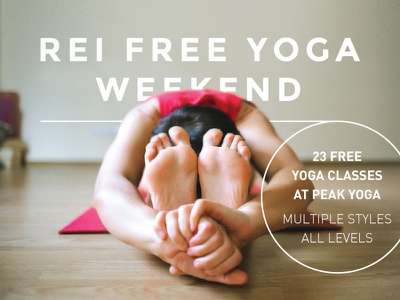 Free Yoga Wknd Ad montserrat din outdoors rei coop yoga pose thin lines circle handout flyer design yoga