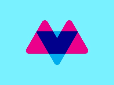 Reform reform logo overlap peaks mountains triangles v m cmyk offset