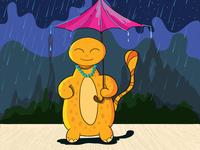 Cute Monster Rain