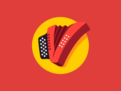 Fiesta Vallenata - Icon monogram colorful vector illustration vector art acordeon vallenato accordion folklore flat design flat colombian music music icon design icon logo colombia vector
