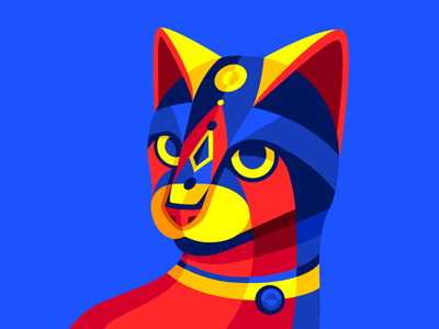 Carnimals II vector primary geometric colombia carnival barranquilla de carnaval meow kitty cat