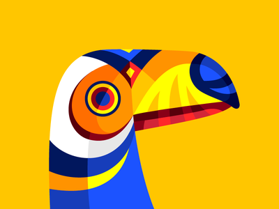 Carnimals III colorful bird tucan toucan carnaval de barranquilla carnival colombia geometric primary vector