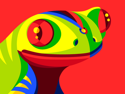 Carnimals IV red-eye tree frog amphibious vector primary geometric de colorful colombia carnival carnaval frog barranquilla