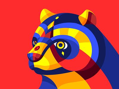 Carnimal V vector cute geometric colorful colombia carnival carnaval barranquilla ursidae oso bear teddy