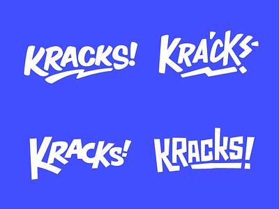 Kracks! brush sign painting typography wordmark logotype lettering snack