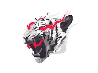 Rage tiger tee t-shirt shirt art design zilux