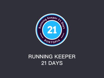 Running Keeper 21 Days