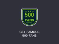 GET FAMOUS 500 FANS
