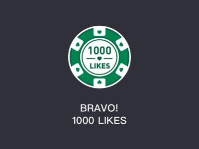 BRAVO! 1000 LIKES