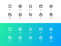 icon flat lines line web app icon ui design