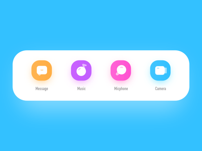 daily work icon ui flat app