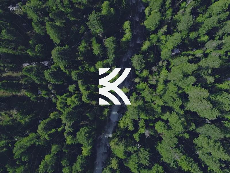 Kovitz Logo paths guidance logomark logo wealth management finance identity branding