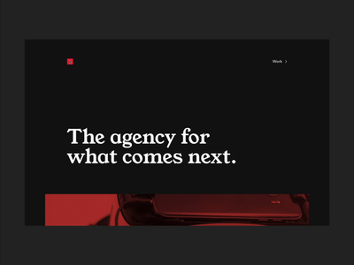 Red Square Seamless Page Transition animation website transition seamless agency