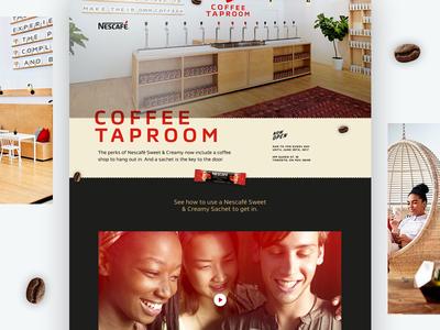 Nescafe Coffee Taproom — Landing Page nescafe coffee pop up landing