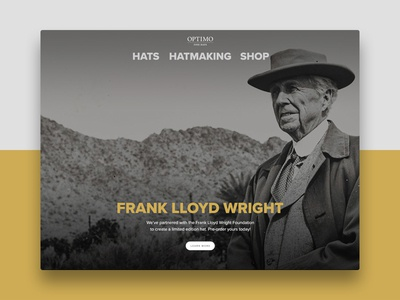 Optimo Homepage Feature chicago frank lloyd wright limited feature homepage hat optimo